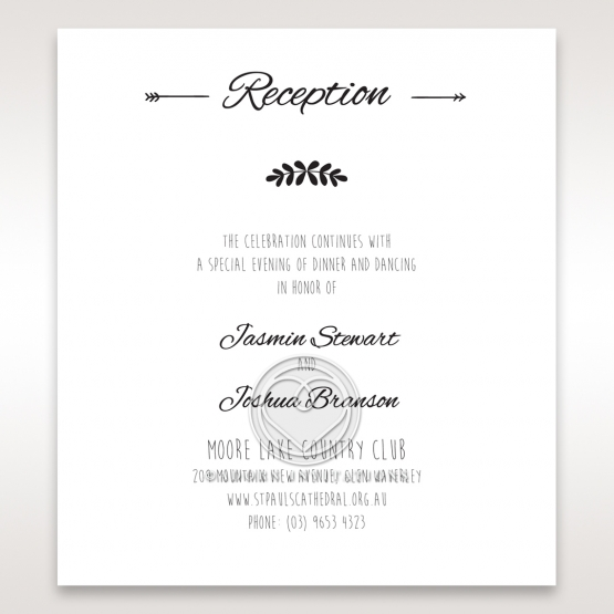 Country Lace Pocket reception stationery invite card design