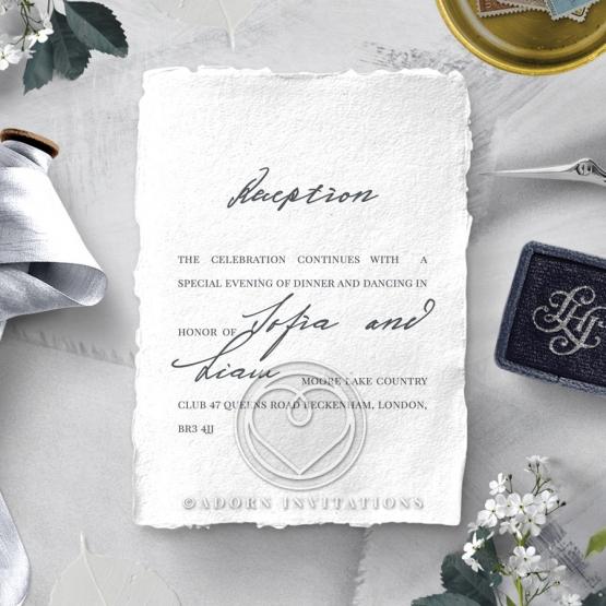 Everlasting Devotion wedding stationery reception invitation card design