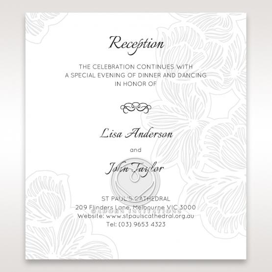 Floral Laser Cut Elegance reception wedding card design