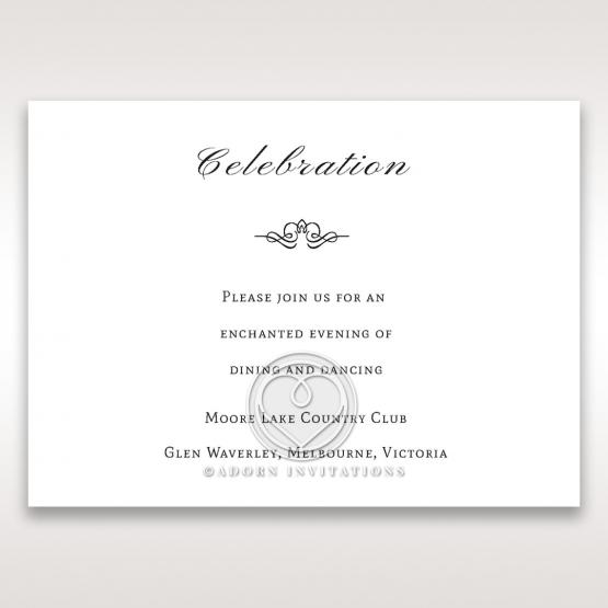 Fragrance reception card design