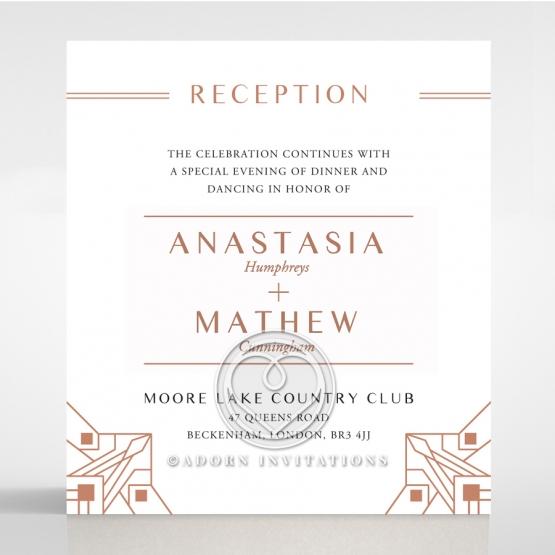 Gatsby Glamour wedding reception card