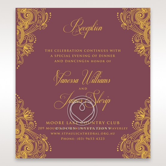 Imperial Glamour with Foil reception stationery card design