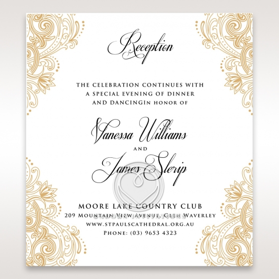 Imperial Glamour without Foil reception stationery invite card