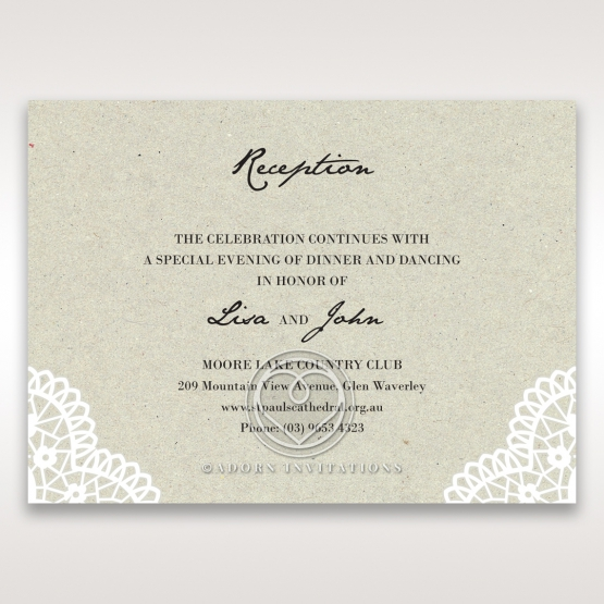 Letters of love reception stationery