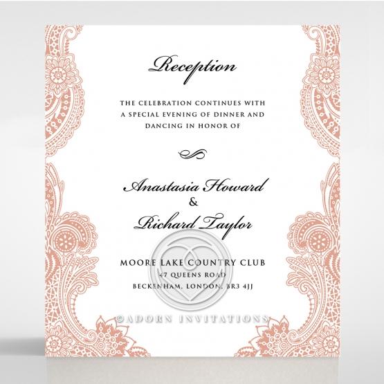 Regal Charm Letterpress reception invite card design