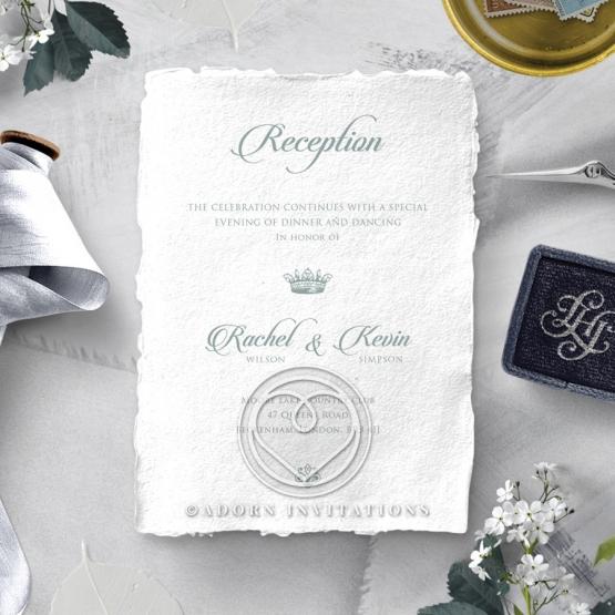 Royalty with Deckled Edges wedding stationery reception card