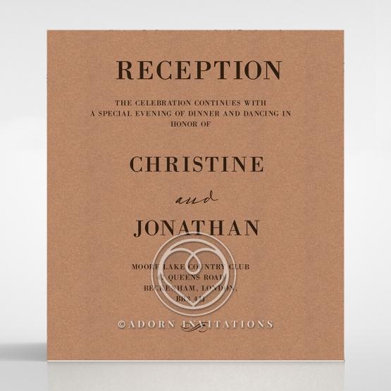 Rustic Love Notes wedding reception card