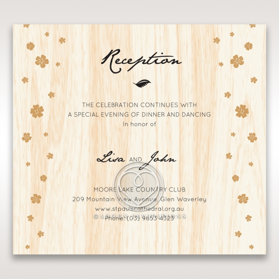 Splendid Laser Cut Scenery reception card design