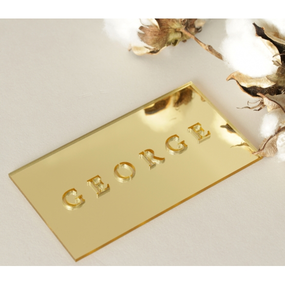 Mirror Laser Cut Names - Place Cards - LC-NAMECARD_MI-G - 178711