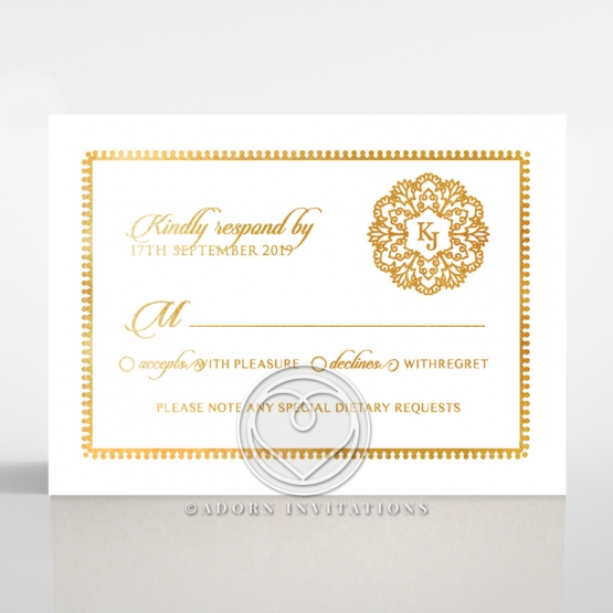 Blooming Charm with Foil rsvp wedding card