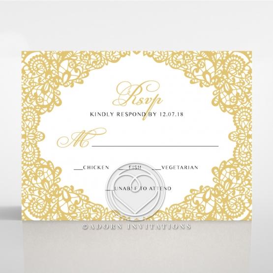 Charming Lace Frame rsvp enclosure card