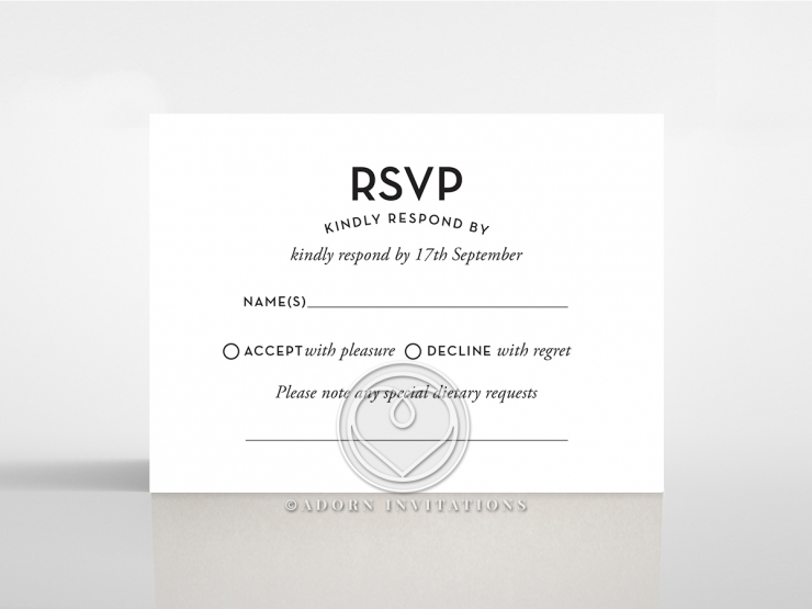 Clear Chic Charm Paper rsvp wedding enclosure card design