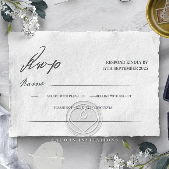 Everlasting Devotion rsvp wedding enclosure card design