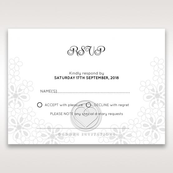 Floral Cluster wedding rsvp card