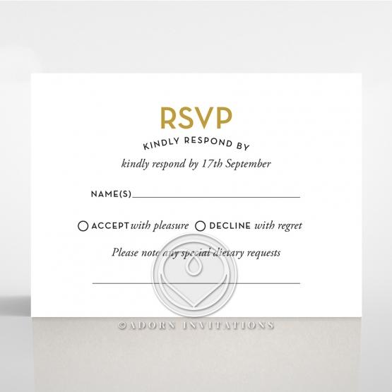Gold Chic Charm Paper rsvp invitation design