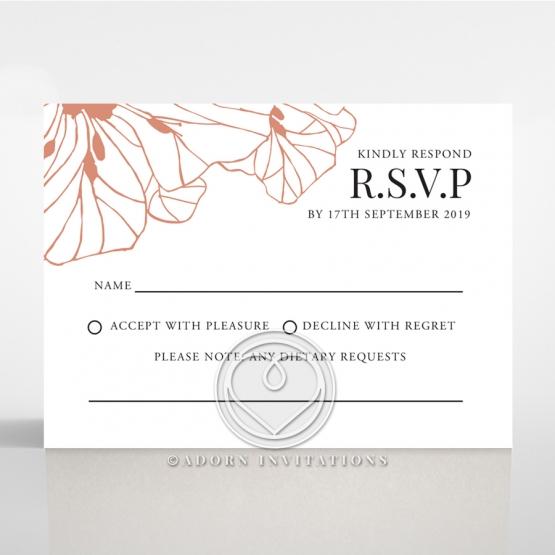 Grand Flora wedding rsvp card