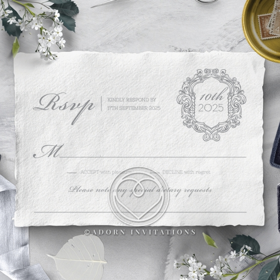 Modern Monogram rsvp card design