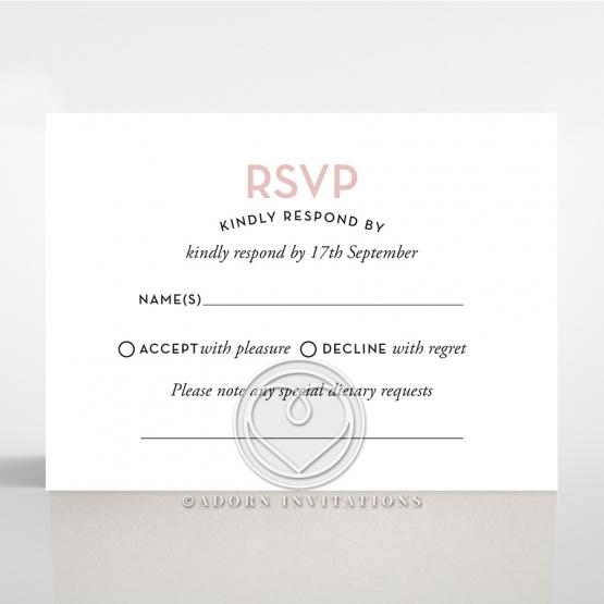 Pink Chic Charm Paper rsvp card design