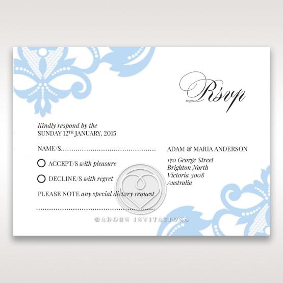 Romantic White Laser Cut Half Pocket rsvp wedding enclosure design