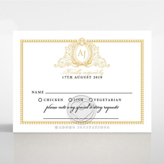 Royal Lace rsvp wedding enclosure card design