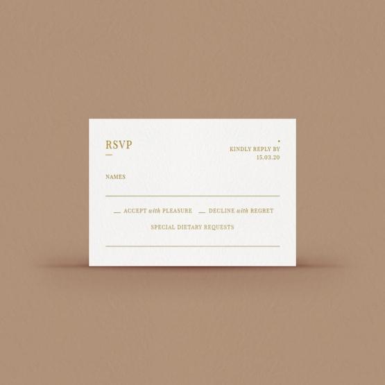 Hot foil stamped RSVP - Reception Cards - DV116092-GW-GG-1 - 178139