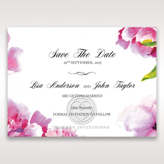 Black Framed Floral Pocket save the date wedding stationery card item