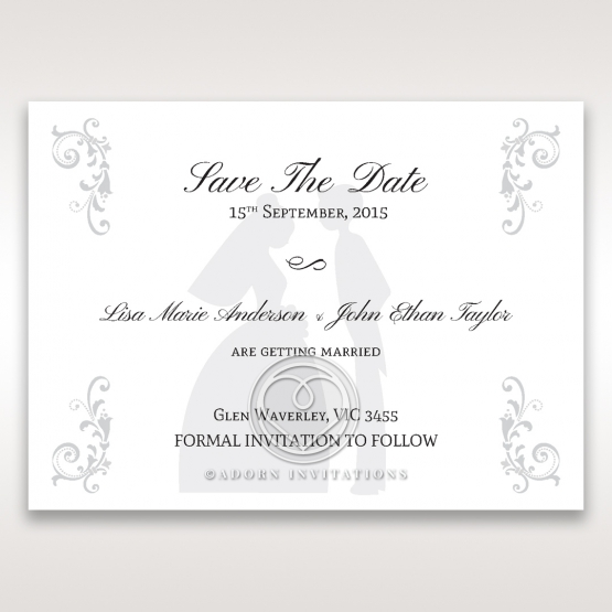 Bridal Romance save the date invitation stationery card design