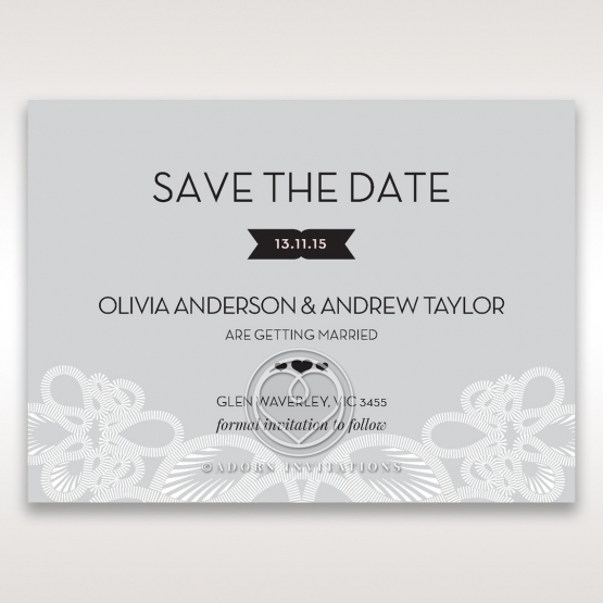 Charming Rustic Laser Cut Wrap save the date card design