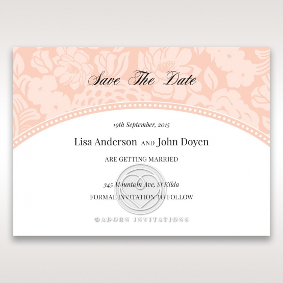 Classic Laser Cut Floral Pocket save the date wedding card