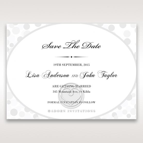Contemporary Celebration wedding save the date card design