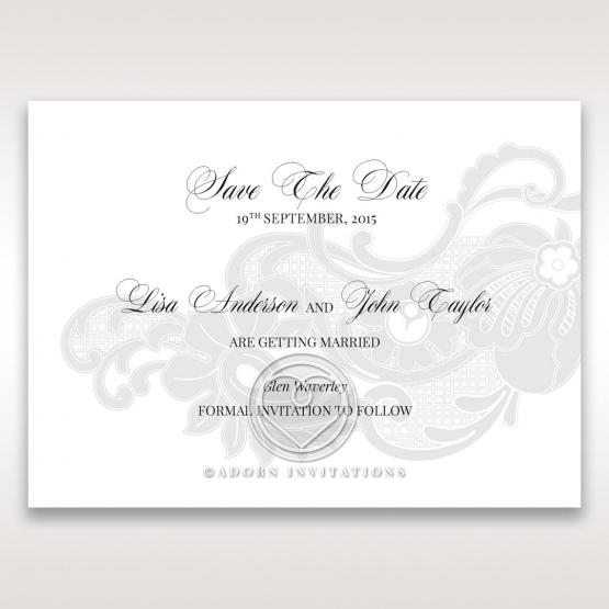 Elegant Black Laser Cut Sleeve wedding save the date stationery card item