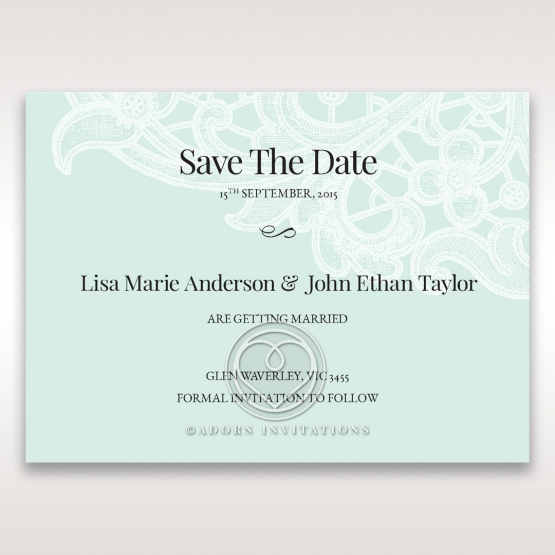 Embossed Gatefold Flowers save the date stationery card item
