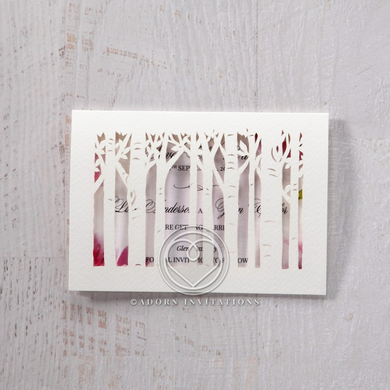 Enchanting Forest 3D Pocket save the date invitation stationery card item