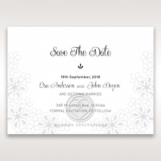 Floral Cluster save the date invitation stationery card design