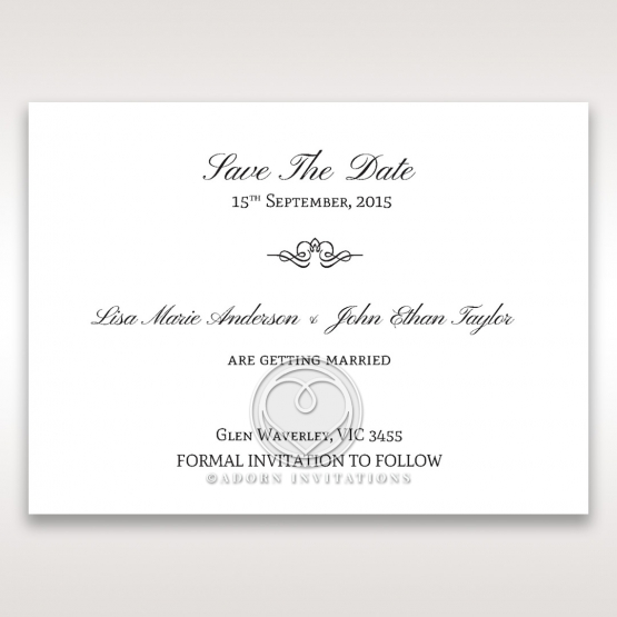 Fragrance save the date card design
