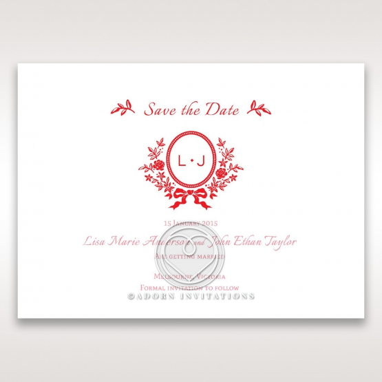 Graceful wedding save the date card design
