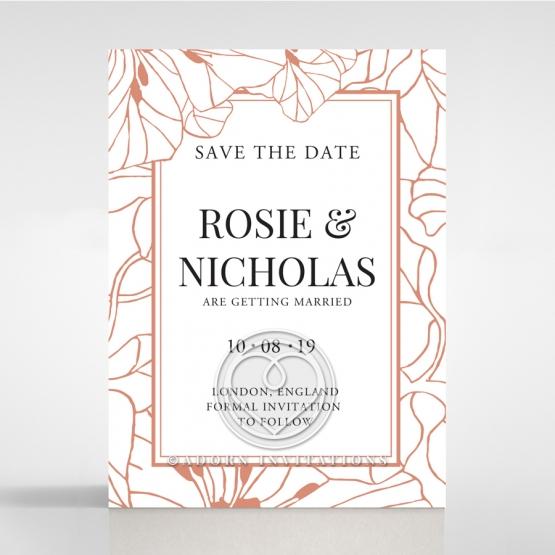 Grand Flora save the date invitation card design