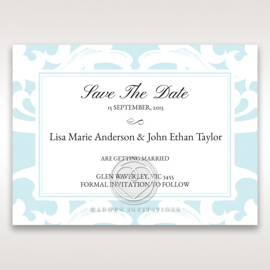 Laser cut Swirls save the date wedding stationery card item