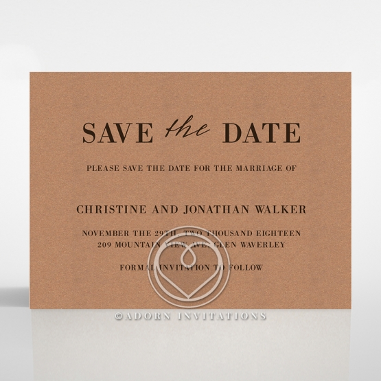 Rustic Love Notes save the date wedding stationery card item