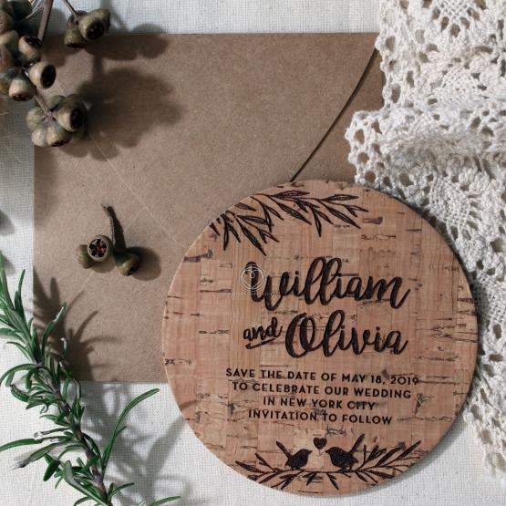 Springtime Love save the date wedding card design