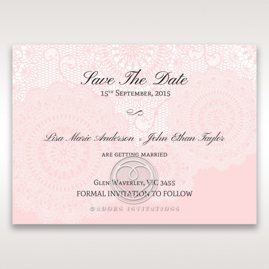 Tri-Fold Laser Cut save the date wedding stationery card design