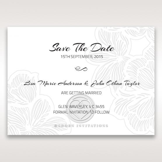 Tropical Flower Frame save the date invitation stationery card item