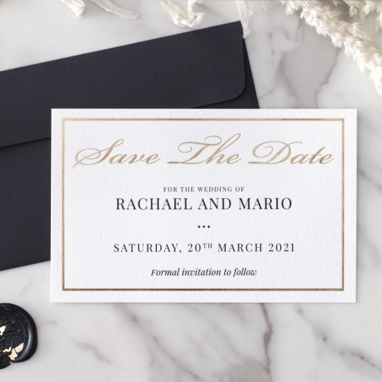 Gold and Black Save the Date - Wedding Invitations - WP-CR15-SD-KI-G - 179001
