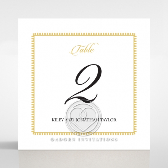 Blooming Charm reception table number card stationery design