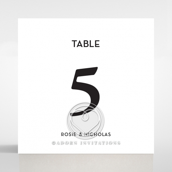 Clear Chic Charm Acrylic wedding reception table number card stationery design