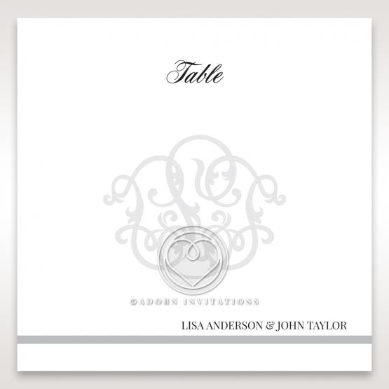 Elegant Seal reception table number card stationery design