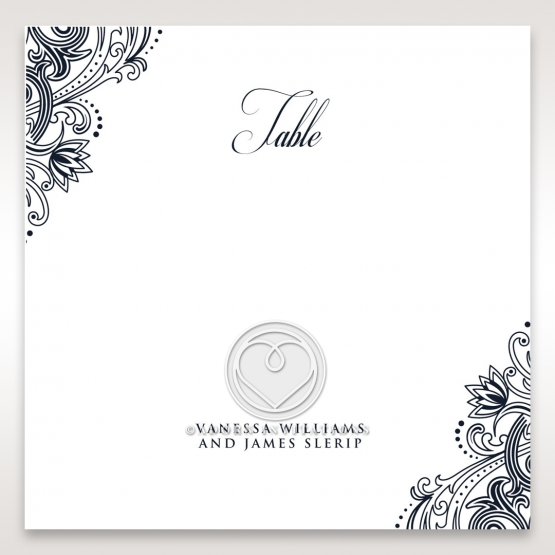 Imperial Glamour without Foil wedding venue table number card design