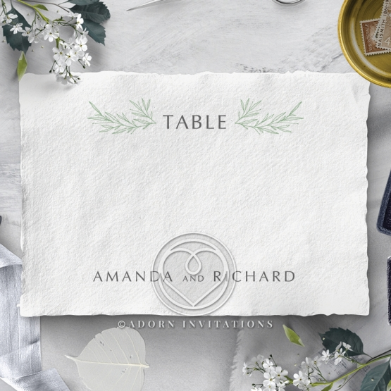 Minimalist Wreath reception table number card stationery