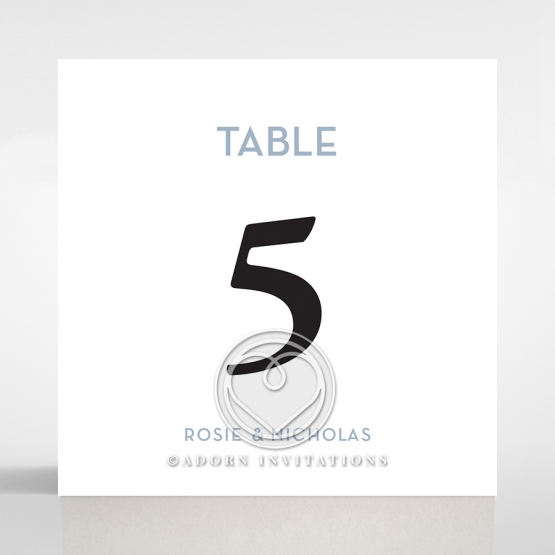 Pink Chic Charm Paper wedding venue table number card stationery