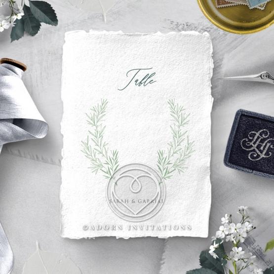 Simple Elegance reception table number card design